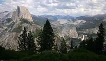 California national park yosemite glacier point valleys HD wallpaper
