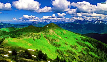 Nuages ​​collines paysages montagnes panorama  HD wallpaper