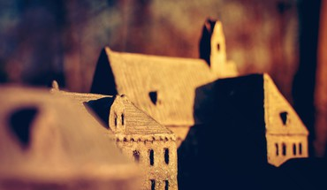 Buildings depth of field HD wallpaper