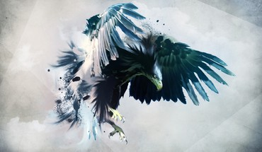 Artwork birds eagles wings HD wallpaper