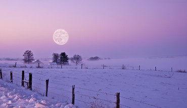 Landscapes snow moon HD wallpaper