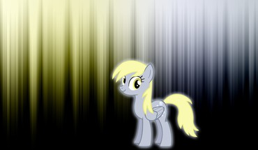 Derpy hooves my little pony glow HD wallpaper
