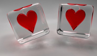 3d cgi cubes hearts HD wallpaper