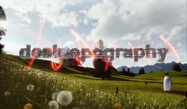 Landscapes typography penguins artwork dandelions desktopography HD wallpaper