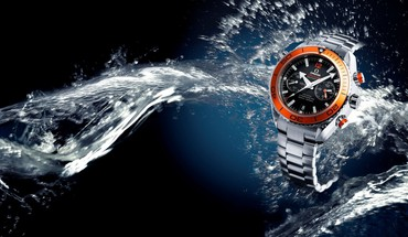 Wasser Orange Uhren Omega  HD wallpaper