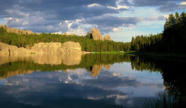 Black hills lakes south dakota HD wallpaper