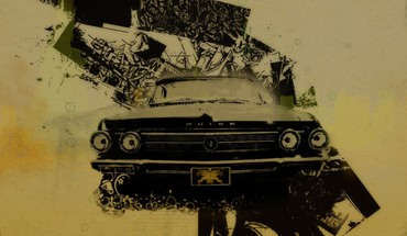 Cars lowriders digital art car old HD wallpaper