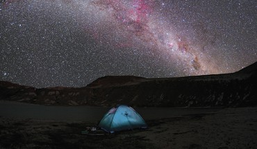 Chile milky way national park composite HD wallpaper