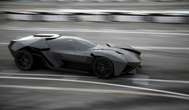 Black cars design roads lamborghini ankonian concept HD wallpaper