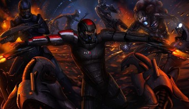 Mass effect artwork HD wallpaper