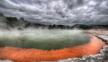 Hot spring in new zealand called champagne pool HD wallpaper