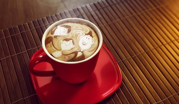 Fruits food cappuccino HD wallpaper