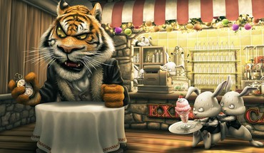 Funny restaurant HD wallpaper
