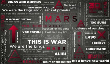 30 Seconds To Mars milieux bandes musique  HD wallpaper