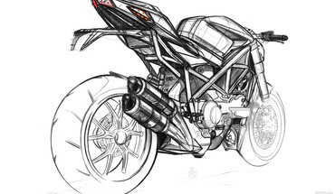 Ducati artwork motorbikes sketches vehicles HD wallpaper
