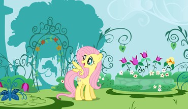 Fluttershys garden HD wallpaper