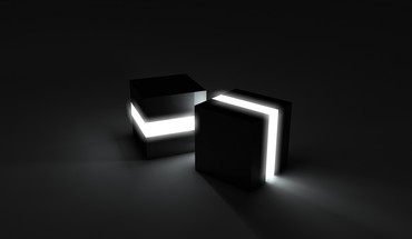 3d view cubes lights HD wallpaper
