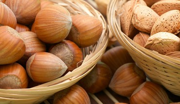 Food hazelnuts macro nuts HD wallpaper