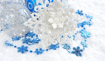 Snow stars HD wallpaper