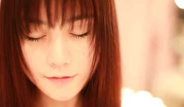 Women asians closed eyes faces HD wallpaper