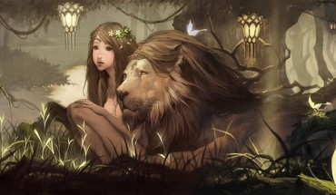 Pet lion HD wallpaper