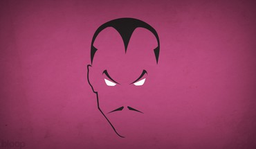 Minimalistic dc comics moustache villians sinestro blo0p HD wallpaper