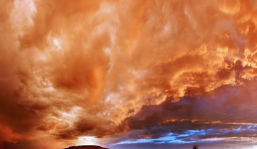 Amazing fiery sky HD wallpaper