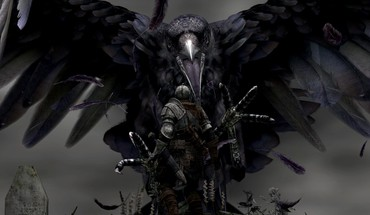 Dark giant fantasy art grab digital souls raven HD wallpaper