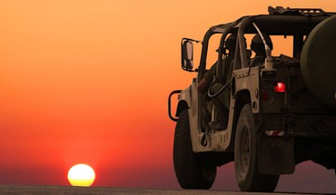 Sunset military cars israel idf HD wallpaper