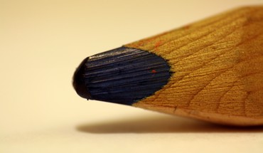 Pencil blue macro HD wallpaper