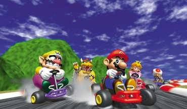 Peach bowser wario toad mario kart 64 HD wallpaper