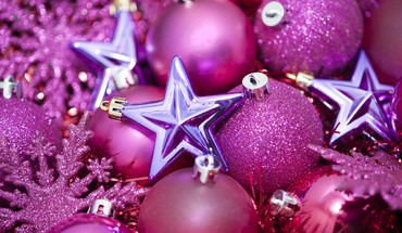Pink christmas still life HD wallpaper