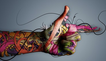 Hands artwork colors graphic HD wallpaper