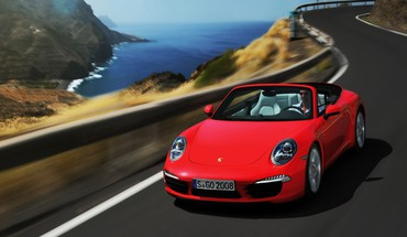 Red Porsche 911 Carrera S  HD wallpaper