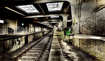 Abandoned subway station hdr HD wallpaper