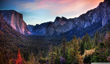 Awesome yosemite valley hdr HD wallpaper