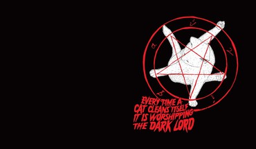Cats pentagram satanism HD wallpaper