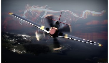 Clouds aircraft war flying artwork art design skies HD wallpaper