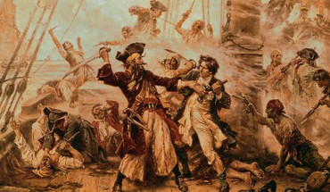 Pirates sepia engraving drawings blackbeard edward teach HD wallpaper