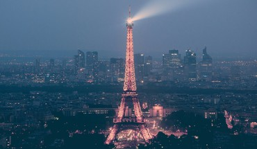 Eiffel tower france paris buildings lights HD wallpaper