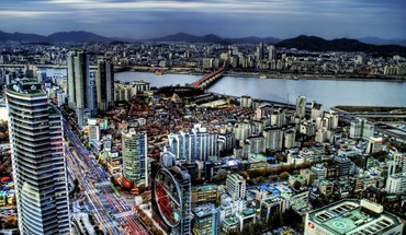 "Pietų Panorama ""Seoul Korea HD wallpaper"