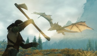 Dragons the elder scrolls v: skyrim nord HD wallpaper