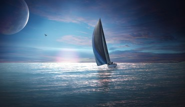 Fantasy art sailboats seascapes HD wallpaper
