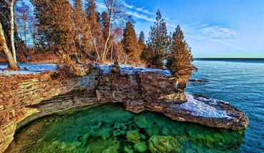 Landscapes nature lake michigan HD wallpaper