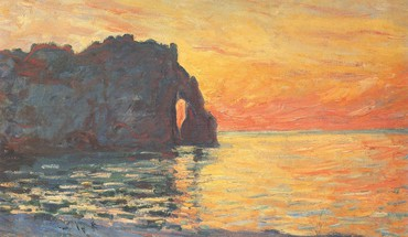 Paintings cliffs seaside claude monet impressionism HD wallpaper