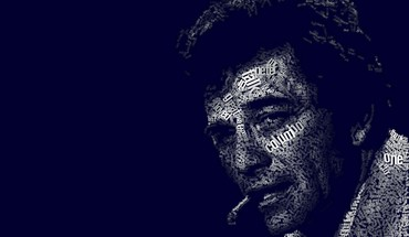 Minimalistic text tv series columbo typographic portrait HD wallpaper