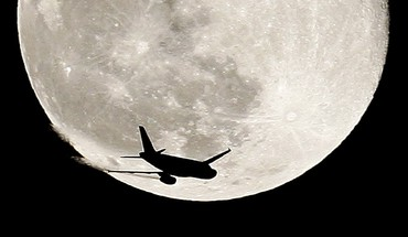 Aircraft moon HD wallpaper