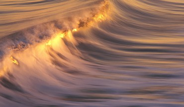 Ocean waves golden seascapes HD wallpaper
