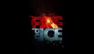 Fire ice minimalistic HD wallpaper