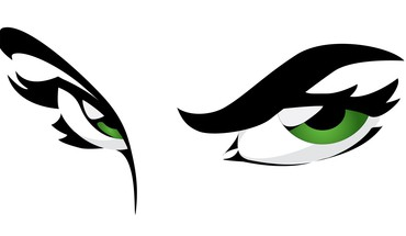 Eyes graphics green vector white background HD wallpaper